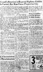 June 11 1950-Crowd's Reaction to Exhibit Varied