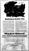 June 11 1950-Political ad for fiscal responsibility