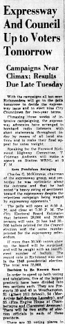 june 12 1950-expressway and council up to voters tomorow-news