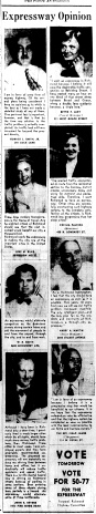june 12 1950-Opinions for the Expressway-Political ad