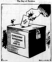 june 12 1950-the day of decision-Political cartoon