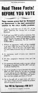 june 12 1950-vote for the expressway-Political ad
