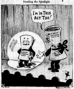 june 13 1950-Stealing The Spotlight-Political cartoon