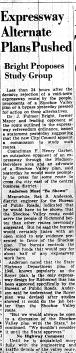 june 15 1950-expressway alternate plans pushed-News