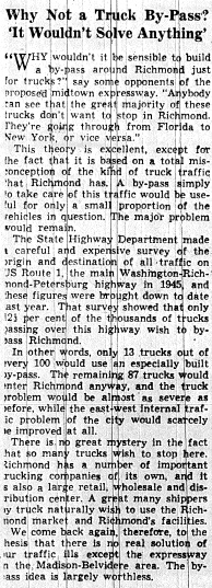 june 2 1950-truck bipass wouldnt solve anything-editorial