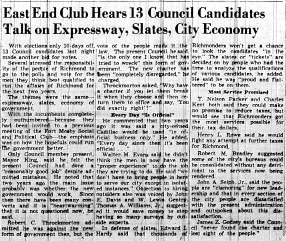 june 3 1950-council candidates debate expressway-news