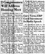 june 4 1950-housing and clearance meeting-news