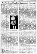 June 4 1950-macdonald and the expressway-editorial