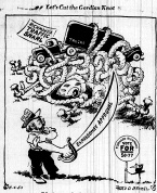 june 4 1950-Richmond's traffic snarl-Cartoon in favor