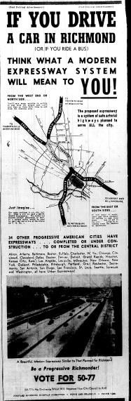 june 5 1950-if you drive a car in richmond-political ad