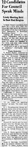 june 7 1950-12 candidates for council speak minds-news