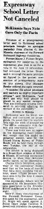 June 8 1950-Expressway letter not cancelled