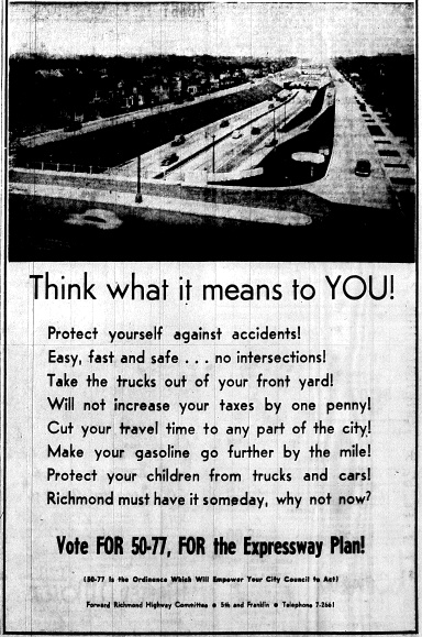 June 8 1950-Political Ad in Favor Think what it means to YOU