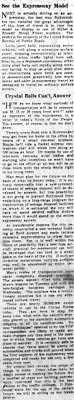 June 8 1950-See The Expressway Model and Chrystal Balls Can't Answer