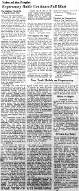 June 9 1950-Expressway Battle Continues Full Blast