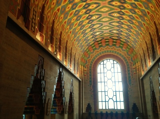 The inside of the Guardian building, the cathedral of finance