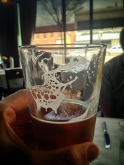 Found a little alligator in the foam of my beer at Atlas Global Bistro. I think they closed recently :/