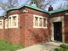 Bathroom on Belle Isle (one large park designed by Frederick Law Olmsted)