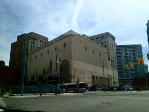 Former Michigan Theater, now a parking garage