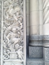 Close up on a facade in downtown Detroit