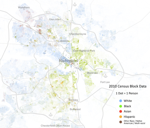 Racial demographics in Richmond