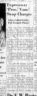 Nov. 1, 1951, Expressway Pros, Cons swap charges, p.1