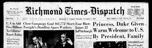 Nov. 1 1951, Front Page