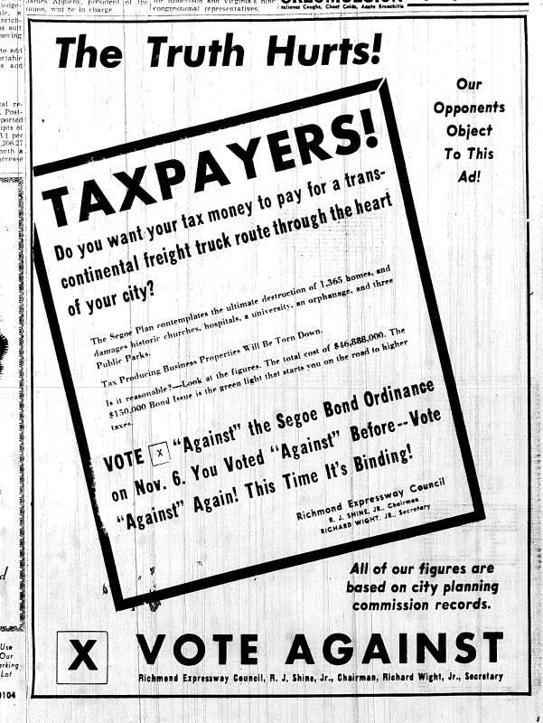 Nov. 3 1951,The Truth Hurts-opposition ad, p. 2