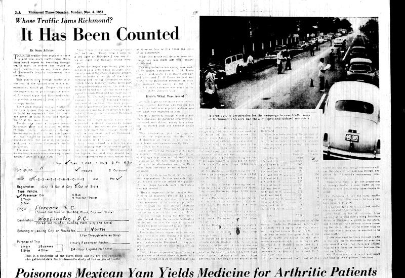 Nov. 4, 1951, 2-A, Whos Traffic Jams Richmond