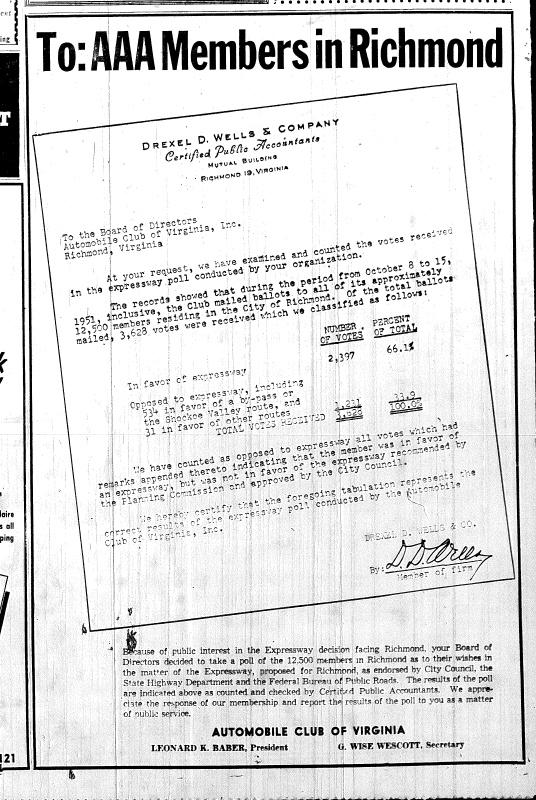 Nov. 4, 1951, 8-B, AD, AAA informal poll in favor