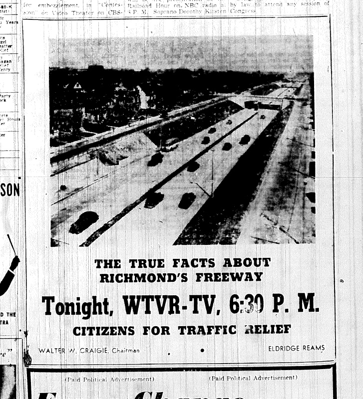 Nov. 5, 1951, Ad for The true facts about Richmonds freeway, p. 8