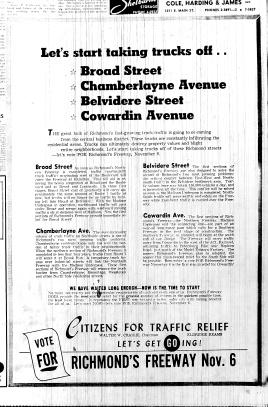 Nov. 5, 1951, AD in favor, Traffic Relief, p. 12